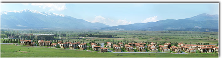 "Residential village ""Bania Village"" - general view of the mountain"
